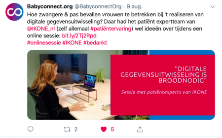 Project IKONE en Babyconnect